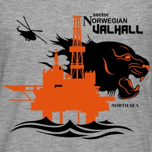 Valhall Oil Rig North Sea Tiger 2 Norway - Men's Premium Longsleeve Shirt