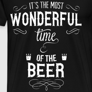 most_wonderful_time_of_beer_w Sweaters - Mannen Premium T-shirt
