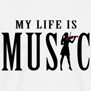 my_life_is_music_female_violin_player_12 Schürzen - Männer Premium T-Shirt
