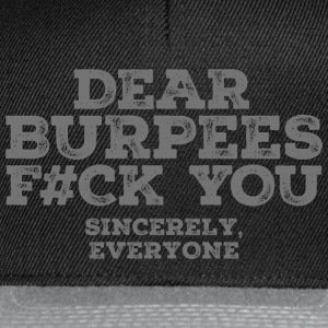 Dear Burpees F#CK You Manches longues - Casquette snapback