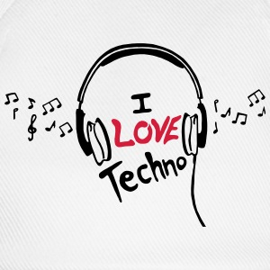 I Love Techno - for man - Baseballkappe