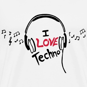 I Love Techno - for man - Männer Premium T-Shirt