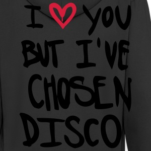 I Love you but disco T-Shirts - Men's Premium Hooded Jacket