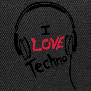 I Love Techno - for woman - Snapback Cap