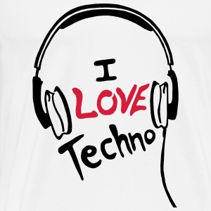 I Love Techno - for woman - Männer Premium T-Shirt
