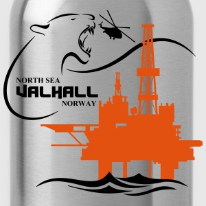 Valhall Oil Rig Platform Noth Sea Norway - Water Bottle