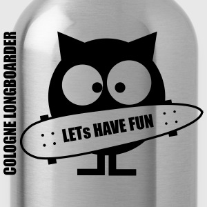 Lets have fun - Longboarder -  T-Shirt - Trinkflasche
