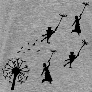 flying dandelion, fairy - Men's Premium T-Shirt