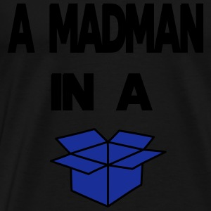 A Madman in a a blue box  Manches longues - T-shirt Premium Homme