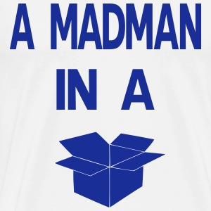 A Madman in a a blue box  Long sleeve shirts - Men's Premium T-Shirt