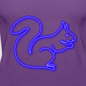 Neon squirrel! - Women's Premium Tank Top