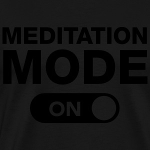 Meditation Mode (On) Sweatshirts - Herre premium T-shirt