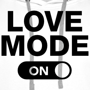 Love Mode (On) Langarmshirts - Männer Premium Hoodie