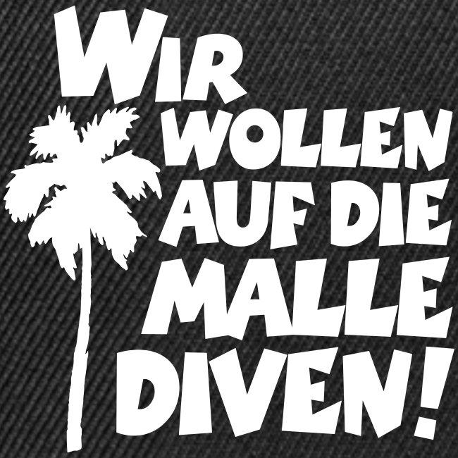 Malle Diven T-Shirt (Herren Rot/Weiß)