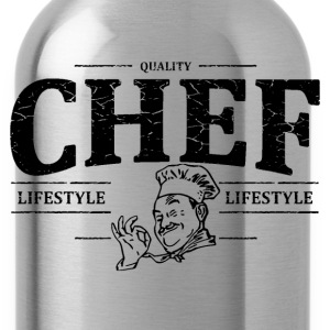 Chef Shirts met lange mouwen - Drinkfles