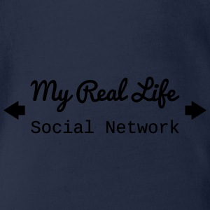 Real Life social network Long Sleeve Shirts - Organic Short-sleeved Baby Bodysuit