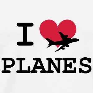 I Love Planes [Pilot] Hoodies - Men's Premium T-Shirt