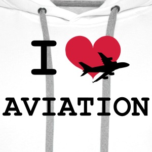 I Love Aviation [Pilot] T-shirts - Premiumluvtröja herr