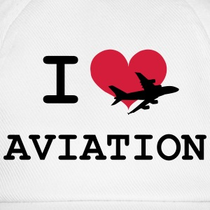 I Love Aviation [Pilot] T-shirts - Basebollkeps