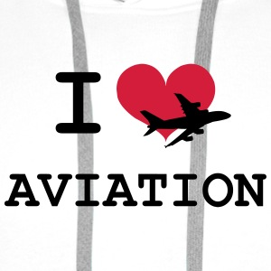 I Love Aviation [Pilot] Shirts - Men's Premium Hoodie