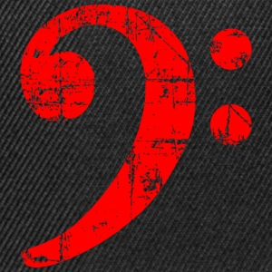 Bass Clef Vintage Musical Symbols Design (Red) T-Shirts - Snapback Cap
