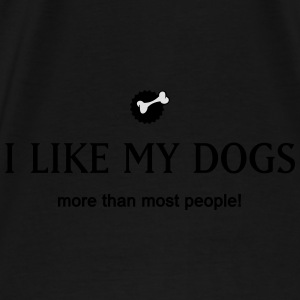 I like my dogs Bags & Backpacks - Men's Premium T-Shirt