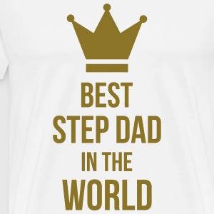 Best Step Dad in the world Kookschorten - Mannen Premium T-shirt