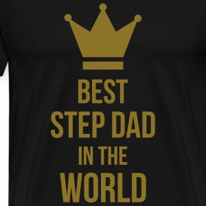 Best Step Dad in the world Förkläden - Premium-T-shirt herr