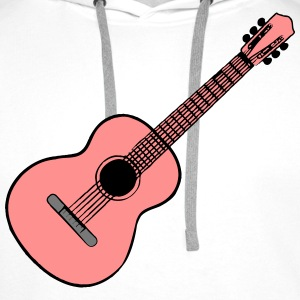 Guitar Acoustic Music T-Shirts - Men's Premium Hoodie