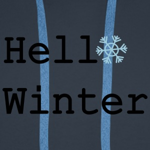 Hello Winter Winter Hat - Men's Premium Hoodie