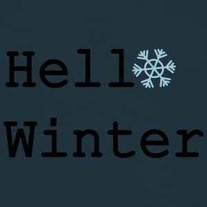 Hello Winter Winter Hat - Men's T-Shirt