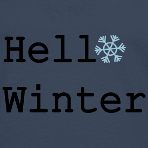 Hello Winter Winter Hat - Men's Premium Longsleeve Shirt