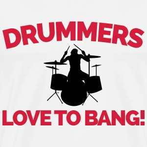 Drummers Love To Bang  Sweatshirts - Herre premium T-shirt
