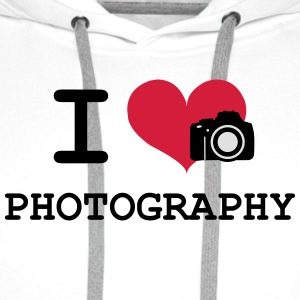 I Love Photography T-Shirts - Men's Premium Hoodie