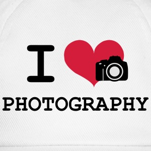 I Love Photography Camisetas - Gorra béisbol
