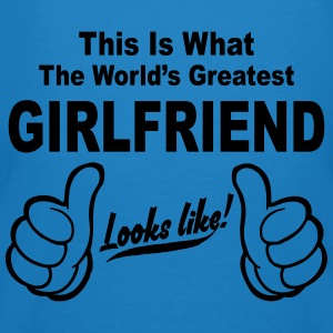 Worlds Greatest Girlfriend Looks Like  Hoodies & Sweatshirts - Men's Organic T-shirt
