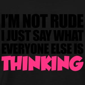 Not Rude Tops - Men's Premium T-Shirt
