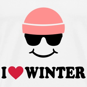 Smiley I love Winter Ski Wintersport Pullover & Hoodies - Männer Premium T-Shirt