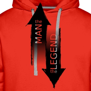 The Man - The Legend - Sweat-shirt à capuche Premium pour hommes