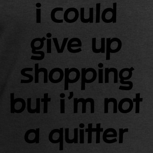 I Could Give Up Shopping But I'm Not A Quitter Toppe - Herresweatshirt fra Stanley og Stella