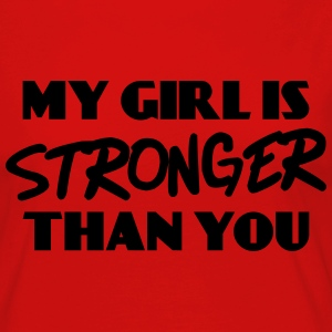 My girl is stronger than you T-shirts - Vrouwen Premium shirt met lange mouwen