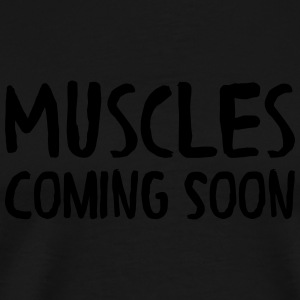 Muscles Coming Soon Tank Tops - Herre premium T-shirt