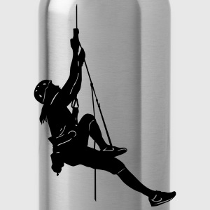 1000_rope_climbing_woman_ - Trinkflasche