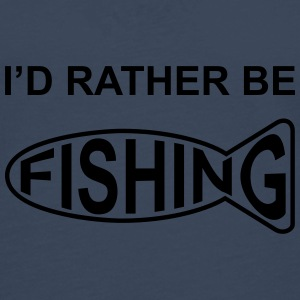 I'd Rather Be Fishing Caps & Hats - Men's Premium Longsleeve Shirt