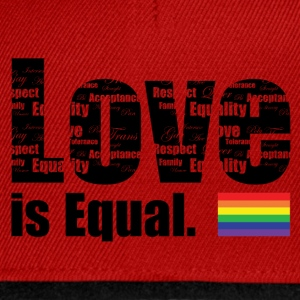 Love is Equal T-Shirts - Snapback Cap