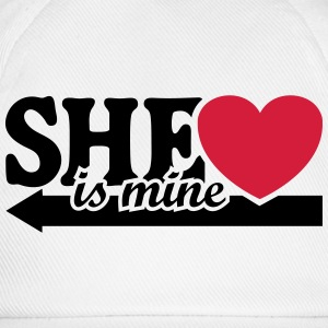 She is mine I love you my Girlfriend She's baby  T-shirts - Baseballcap