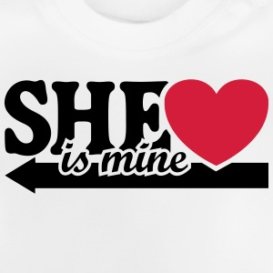 She's mine I love you my Girlfriend Jeg elsker T-shirts - Baby T-shirt