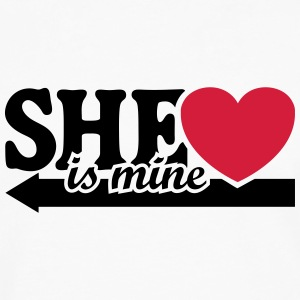 She is mine I love you my Girlfriend She's baby  Mugs & Drinkware - Men's Premium Longsleeve Shirt
