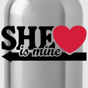 She is mine I love you my Girlfriend Freundin Baby Pullover & Hoodies - Trinkflasche