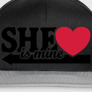She is mine I love you my Girlfriend Freundin Baby Pullover & Hoodies - Snapback Cap